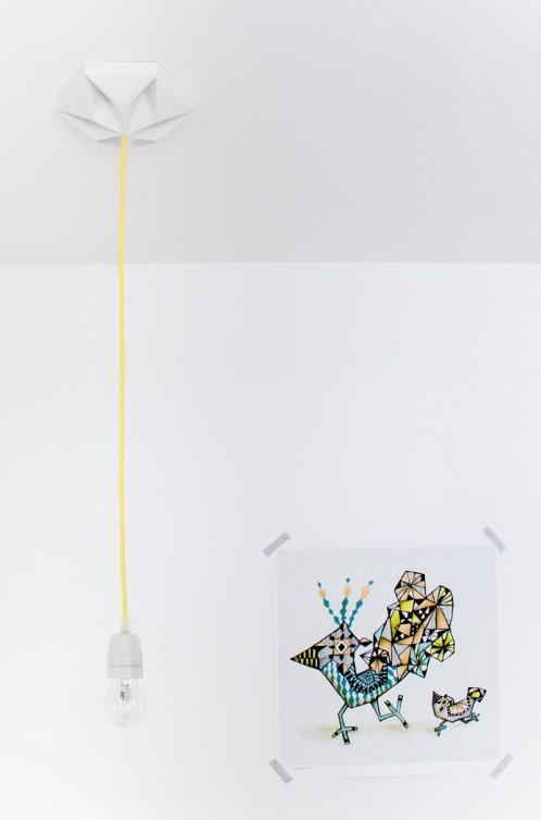 FIY Kroonuppe plafondkapje wit
