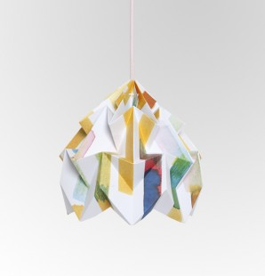 Moth gevouwen papieren origami lamp Midzomer