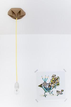 FIY Kroonuppe plafondkapje bruin