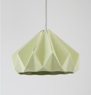 Chestnut gevouwen papieren origami lamp herfstgroen