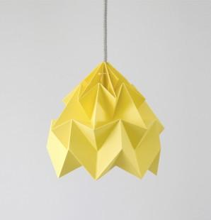 Moth gevouwen papieren origami lamp herfst geel