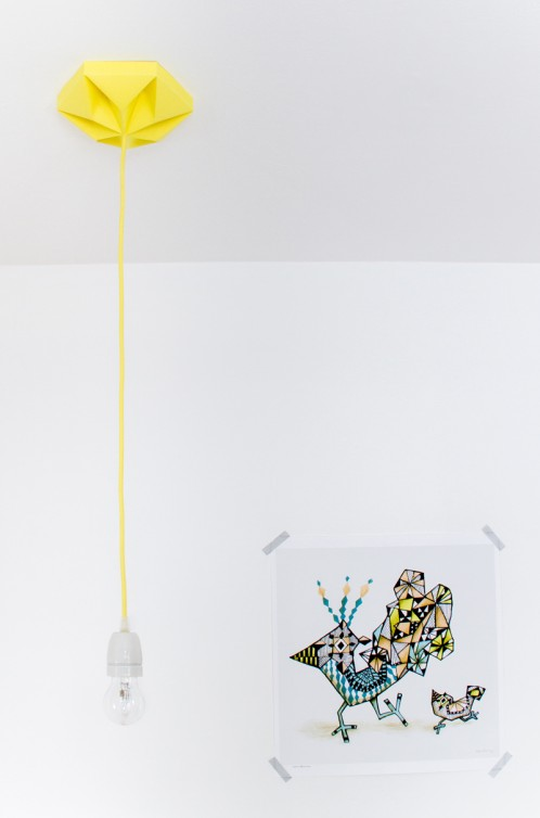 FIY Kroonuppe: paper ceiling rose autumn yellow