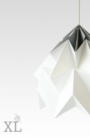 Moth XL paper origami lamp gradient grey