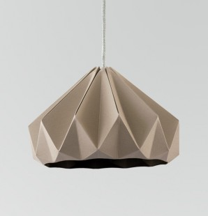 Chestnut paper origami lampshade brown