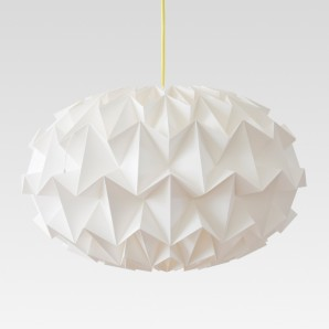 Signature folded paper origami lampshade white