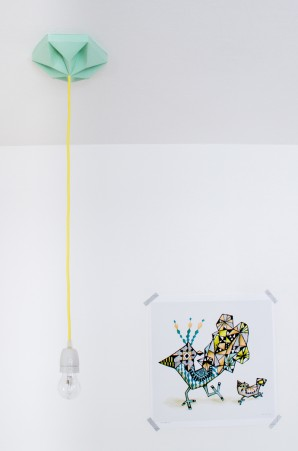 FIY Kroonuppe: paper ceiling rose mint