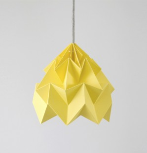 Moth paper origami lamp autumn yellow