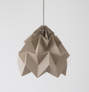 Moth paper origami lamp brown
