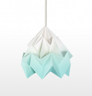 Moth paper origami lamp gradient mint