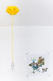 FIY Kroonuppe: paper ceiling rose gold yellow