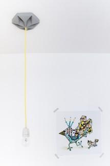 FIY Kroonuppe: paper ceiling rose grey