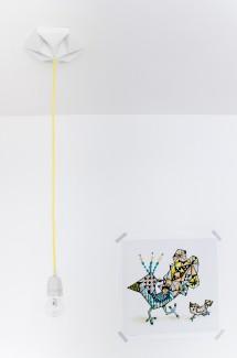 FIY Kroonuppe: paper ceiling rose white