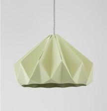 Chestnut paper origami lampshade autumn green