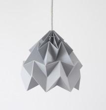 Moth paper origami lamp grey