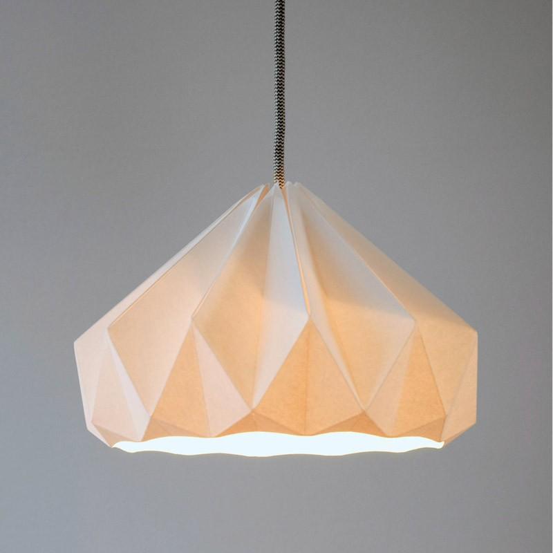 Chestnut Paper Origami Lampshade Studio Snowpuppe Paper