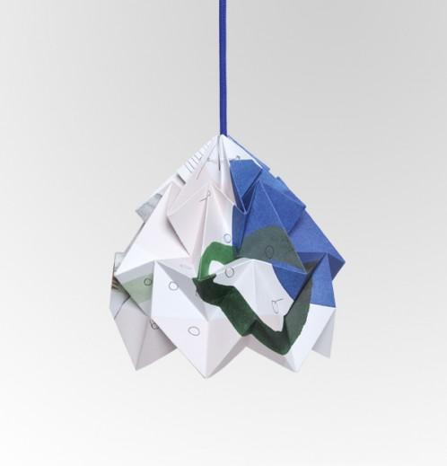 Moth gevouwen papieren origami lamp Droom