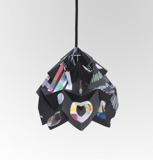 Moth gevouwen papieren origami lamp Nacht