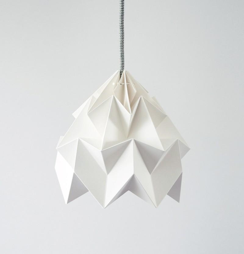 moth gevouwen papieren origami lamp papieren origami. Black Bedroom Furniture Sets. Home Design Ideas