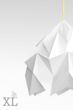 Moth XL gevouwen papieren origami lamp wit