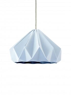 Chestnut gevouwen papieren origami lamp pastel blauw