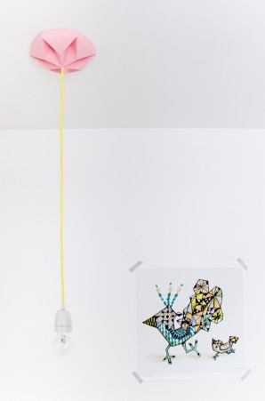 FIY Kroonuppe plafondkapje roze