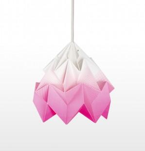 Moth gevouwen papieren origami lamp gradient roze