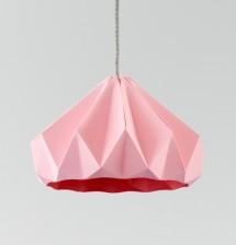 Chestnut gevouwen papieren origami lamp roze