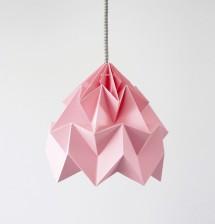 Moth gevouwen papieren origami lamp roze