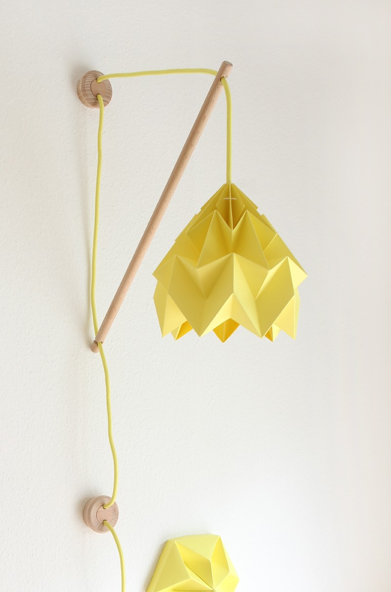 Wall fixture Klimoppe : Paper origami lampshades by Studio Snowpuppe ...