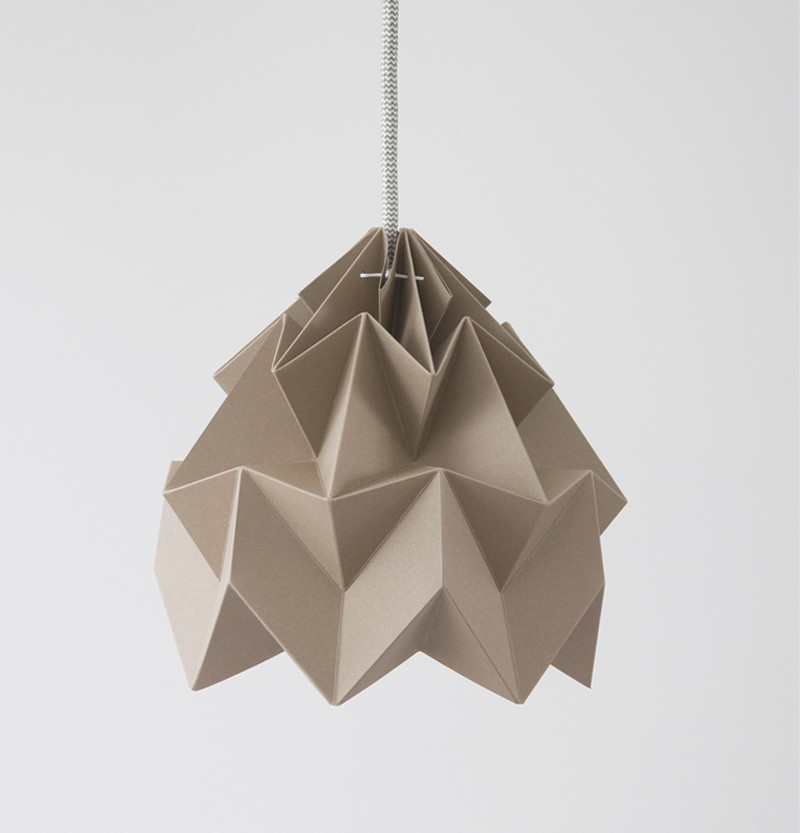 Moth paper origami lamp paper origami lampshades by studio moth paper origami lamp brown aloadofball Gallery