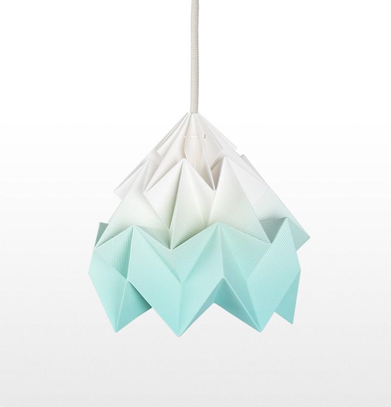 Moth Paper Origami Lamp Gradient Mint