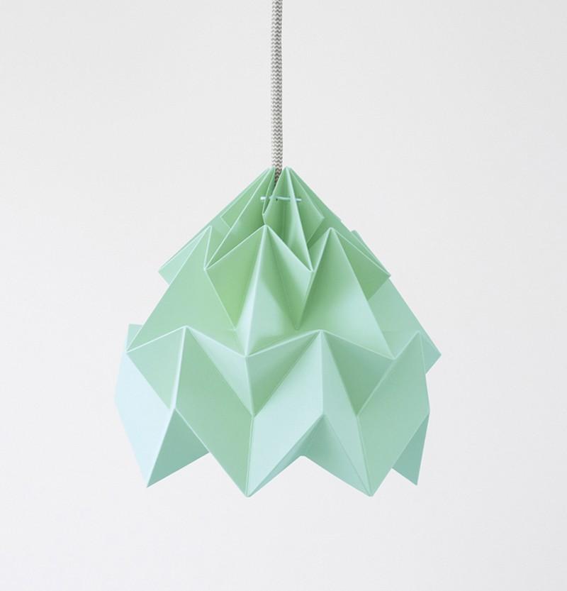 Moth Paper Origami Lamp Mint