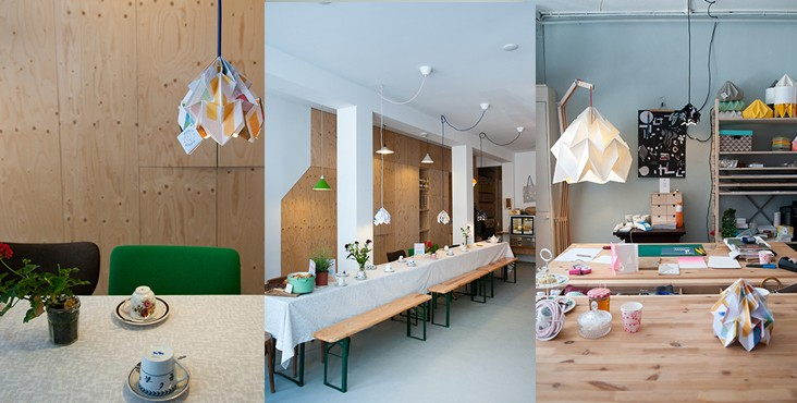 Studio Snowpuppe Lamp : Designkwartier paper origami lampshades by studio snowpuppe