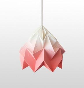 Moth paper origami lamp gradient coral