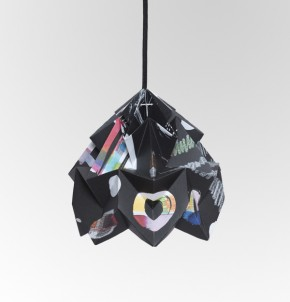 Moth paper origami lamp Nacht