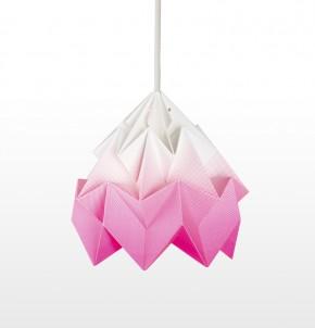 Moth paper origami lamp gradient pink