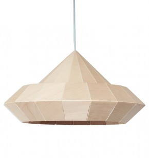 Woodpecker origami lamp birch wood veneer