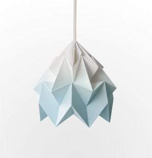 Moth paper origami lamp gradient blue