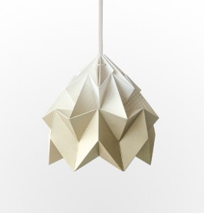Moth paper origami lamp gradient gold