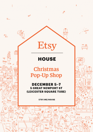 Etsy House Christmas pop-up