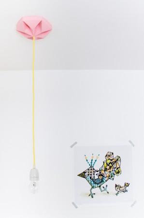 FIY Kroonuppe: paper ceiling rose pink