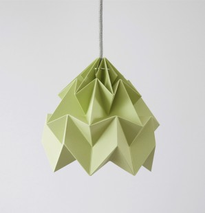 Moth paper origami lamp autumn green