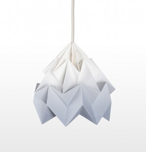 Moth paper origami lamp gradient grey
