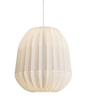 Thistle paper origami lamp white