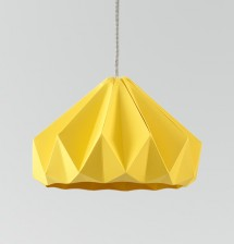 Chestnut paper origami lampshade gold yellow