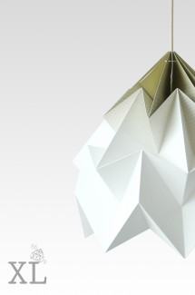 Moth XL paper origami lamp gradient gold