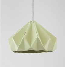 Chestnut paper origami lampshade autumn green