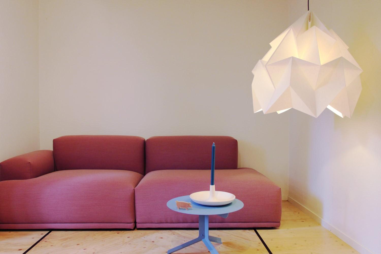 Studio Snowpuppe Lamp : Moth xl paper origami lamp paper origami lampshades by studio