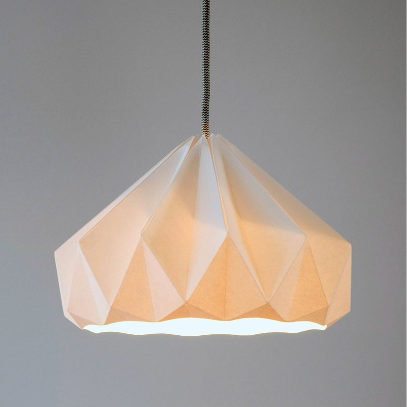 Chestnut paper origami lampshade paper origami lampshades by more views aloadofball Image collections