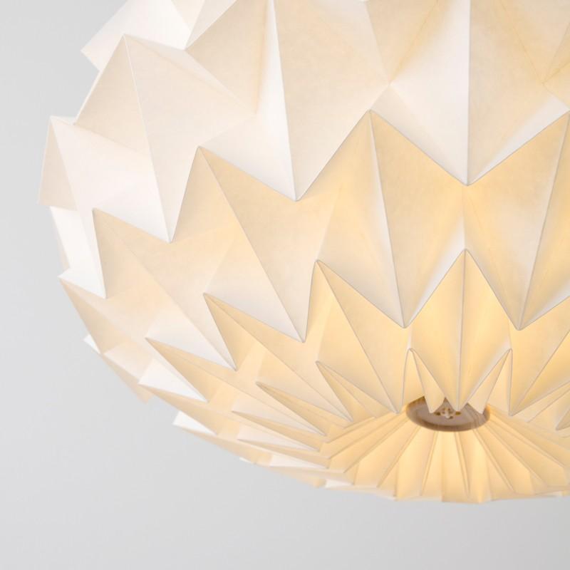 Signature folded paper origami lampshade studio snowpuppe paper more views aloadofball Gallery